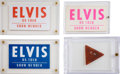 Music Memorabilia:Memorabilia, Elvis Presley's Guitar Pick with Vintage Backstage Passes....