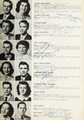 Music Memorabilia:Autographs and Signed Items, Elvis Presley and George Klein Signed 1953 High School Yearbook....