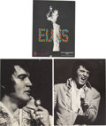 Music Memorabilia:Memorabilia, Elvis Presley International Hotel Menus (1971).... (Total: 3 Items)