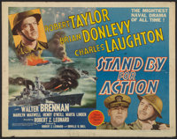 "Stand By For Action (MGM, 1943). Half Sheet (22"" X 28""). War"