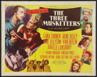 """The Three Musketeers (MGM, 1948). Half Sheet (22"""" X 28"""") Style B. Swashbuckler"""