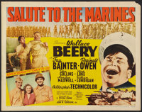 "Salute to the Marines (MGM, 1943). Half Sheet (22"" X 28"") Style B. War"