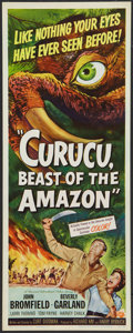 "Movie Posters:Horror, Curucu, Beast of the Amazon (Universal International, 1956). Insert (14"" X 36""). Horror.. ..."