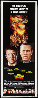 """The Towering Inferno (20th Century Fox, 1974). Insert (14"""" X 36""""). Action"""