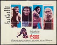 "Planet of the Apes (20th Century Fox, 1968). Half Sheet (22"" X 28""). Science Fiction"
