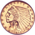 Indian Quarter Eagles, 1911-D $2 1/2 MS63 NGC....