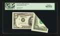 Error Notes:Foldovers, Fr. 1977-K $5 1981A Federal Reserve Note. PCGS Gem New 66PPQ.. ...
