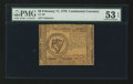 Colonial Notes:Continental Congress Issues, Continental Currency February 17, 1776 $8 PMG About Uncirculated 53EPQ.. ...