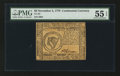 Colonial Notes:Continental Congress Issues, Continental Currency November 2, 1776 $8 PMG About Uncirculated 55EPQ.. ...