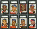 Baseball Cards:Lots, 1953 Topps Baseball SGC-Graded Collection (19 Different) WithHoFers. ...