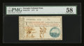 Colonial Notes:Georgia, Georgia 1777 $5 PMG Choice About Unc 58.. ...