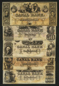 Obsoletes By State:Louisiana, New Orleans, LA- New Orleans Canal & Banking Co. $50 (2), $100, $500, $1000 G46a, G48a, G60a, G70a, G80a. ... (Total: 5 notes)