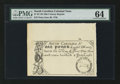 Colonial Notes:South Carolina, South Carolina June 30, 1748 £1 PMG Choice Uncirculated 64.. ...