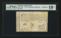 Colonial Notes:Georgia, Georgia 1776 - Denomination on both right and left sides 2s 6d PMGVery Good 10 Net.. ...