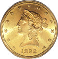 Liberty Eagles, 1892-S $10 MS63 PCGS....
