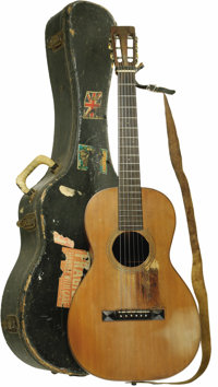 """Mr. Tambourine Man"" Bruce Langhorne's 1920 Martin 1-21 Guitar -- Folk-Rock Sound of the '60s. Peter Fonda cal..."