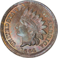 1864 1C Indian Cent, Judd-356, Pollock-426, Low R.6, MS66 Red and Brown NGC....(PCGS# 60526)