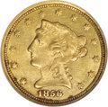 Liberty Quarter Eagles, 1856-C $2 1/2 MS62 NGC....