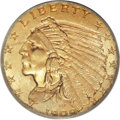 Indian Quarter Eagles, 1909 $2 1/2 MS66 PCGS....