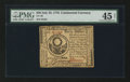 Colonial Notes:Continental Congress Issues, Continental Currency July 22, 1776 $30 PMG Choice Extremely Fine 45Net.. ...