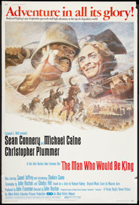 """The Man Who Would Be King (Allied Artists, 1975). Poster (40"""" X 60""""). Adventure"""