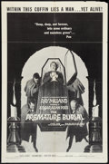 "Movie Posters:Horror, The Premature Burial (American International, R-1967). One Sheet (27"" X 41""). Horror.. ..."