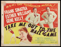 """Take Me Out to the Ball Game (MGM, 1949). Title Lobby Card (11"""" X 14""""). Musical"""
