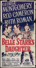 "Movie Posters:Western, Belle Starr's Daughter (20th Century Fox, R-1955). Three Sheet (41"" X 81""). Western.. ..."