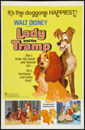"Movie Posters:Adventure, Lady and the Tramp (Buena Vista, R-1972). One Sheet (27"" X 41"").Adventure.. ..."