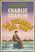 "Movie Posters:Comedy, The Gold Rush (United Artists, R-1950s). Argentinean Poster (29"" X 43""). Comedy.. ..."