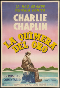 """The Gold Rush (United Artists, R-1950s). Argentinean Poster (29"""" X 43""""). Comedy"""