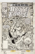 Original Comic Art:Covers, Jose Delbo and Mike DeCarlo Brute Force #3 Cover OriginalArt (Marvel, 1990)....
