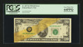 Error Notes:Major Errors, Fr. 2077-B $20 1990 Federal Reserve Note. PCGS Very Choice New64PPQ.. ...