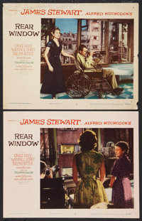 """Rear Window (Paramount, 1954). Lobby Cards (2) (11"""" X 14""""). Hitchcock. ... (Total: 2 Items)"""