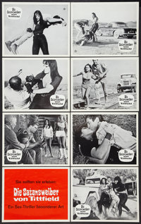 "Faster, Pussycat! Kill! Kill! (Constantin-Film, 1965). German Lobby Card Set of 24 (9.5"" X 11.75""). Adult..."