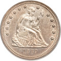 Seated Quarters, 1869 25C MS63 PCGS....