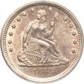 Seated Quarters, 1868-S 25C AU58 PCGS....