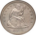 Seated Quarters, 1852-O 25C AU58 ANACS....