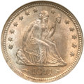 Seated Quarters, 1874 25C Arrows MS64 NGC....