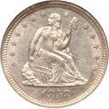 Seated Quarters, 1858-O 25C MS62 NGC....