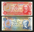 Canadian Currency: , Salmon Seiner and Musical Ride Dome Formation Vignettes.. ... (Total: 2 notes)