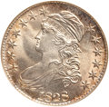 Bust Half Dollars, 1828 50C Square Base 2, Large 8 MS65 NGC. O-108, R.3....