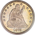 Seated Quarters, 1875-CC 25C MS64 PCGS....