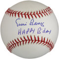 "Autographs:Baseballs, Ernie Banks Single Signed ""Happy Birthday"" Baseball...."