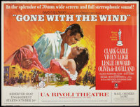 """Gone with the Wind (MGM, R-1967). New York Subway (44.5"""" X 54.25""""). Academy Award Winners"""