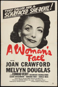 "Movie Posters:Drama, A Woman's Face (MGM, 1941). One Sheet (27"" X 41""). Drama.. ..."