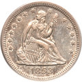 Seated Quarters, 1853 25C No Arrows AU50 PCGS....