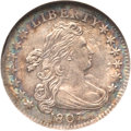 Early Dimes, 1807 10C AU55 NGC. JR-1, R.2....