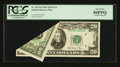 Error Notes:Foldovers, Fr. 2073-B $20 1981 Federal Reserve Note. PCGS About New 50PPQ.....