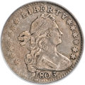 Early Half Dimes, 1803 H10C Large 8 VF35 PCGS. CAC. V-1, LM-2, R.4....